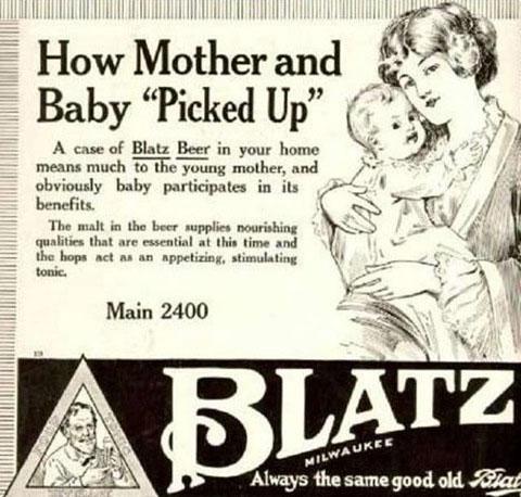Bier is goed voor moeder en baby
