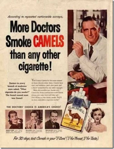 Dokters die sigaretten promoten